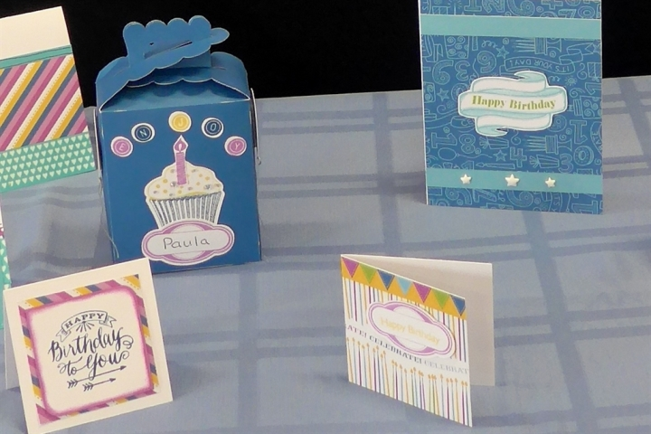 Aren't these Confetti Wishes cards and treat box delightful?  Paula Willemsen in my team made them.