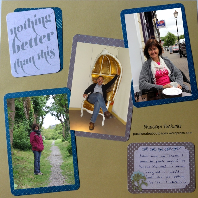 PML card scrapbook layout