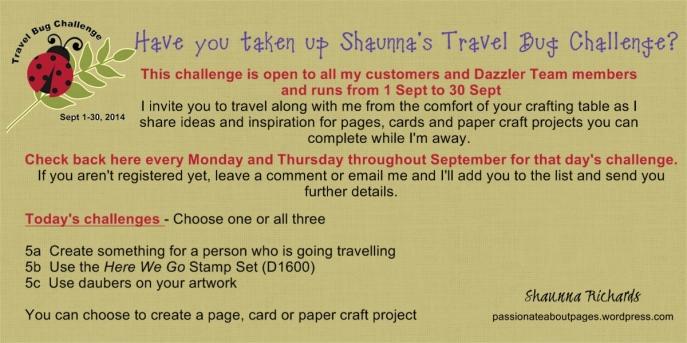Travel Bug Challenge 5