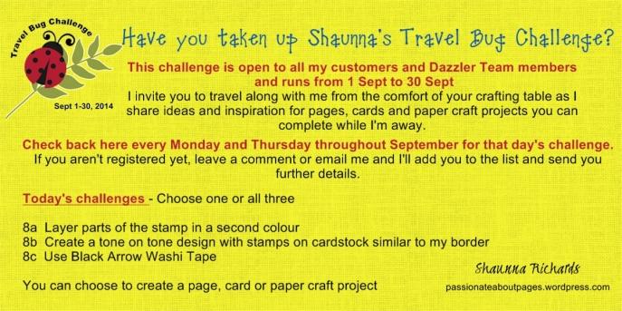 Travel Bug Challenge 8