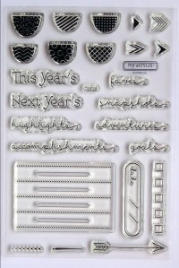 Year Noted Stamp Set.  Available Jan 2015 only as part of a kit.  Spend $75 and purchase the kit for $10.