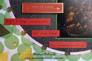 Gold emboss one of the captions from the Just Sayin' SOTM (S15015) and add journaling on short strips of paper.