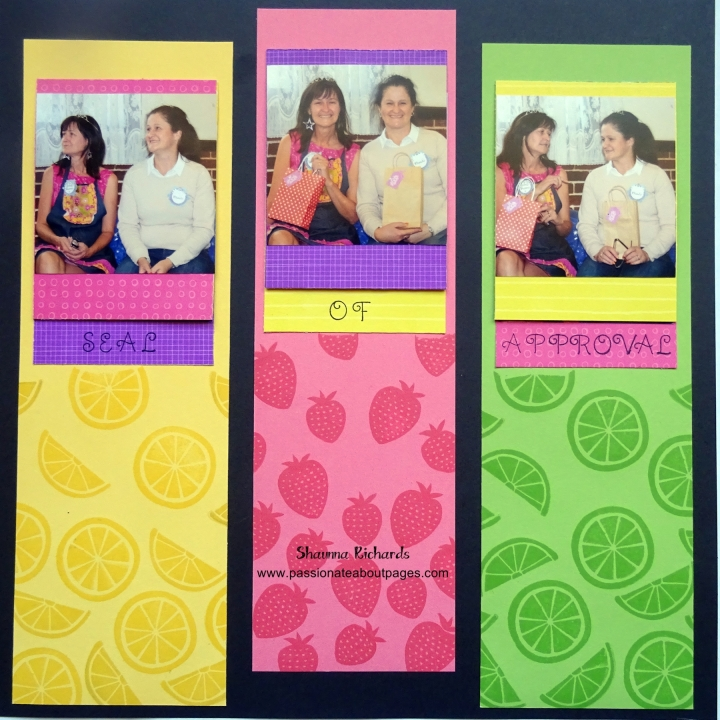Taste of Summer papers (CC1038) and Stamp Set (CC1039) team perfectly with Canary, Cotton Candy and Pear cardstocl