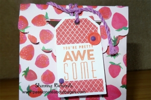 The gift tag is made using one of our NEW CTMH Hostess Rewards Stamp sets.