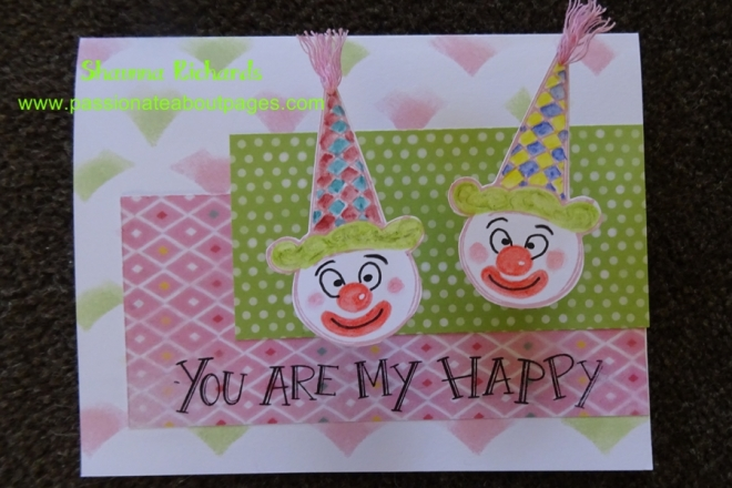 Turn the ice cream cone upside down and make a clown.  CTMH June SOTM 'Ice Cream Dream' S1507 is so versatile!
