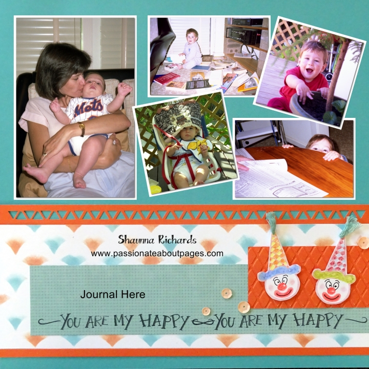Turn the design into a page border.  Nothing makes me happier than my children. CTMH June 2015 SOTM, Ice Cream Dreams S1507
