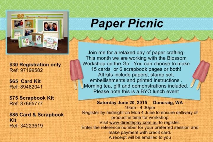 Paper picnic info