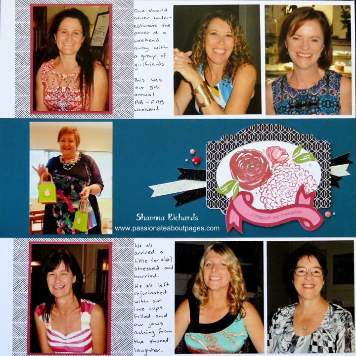 Added to a page the left hand side can be used for a photo, a title  or journaling.