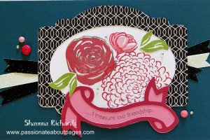 Scored and folded it is a card that will fit in a C6 envelope.