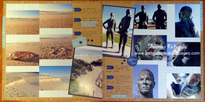 The small words and images on the Hello Life stamps are perfect for pages with LOTS of photos.