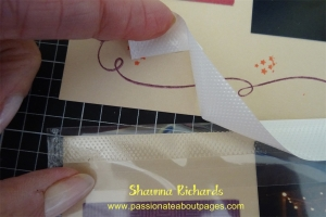 Simply remove the white tape to reveal the adhesive.