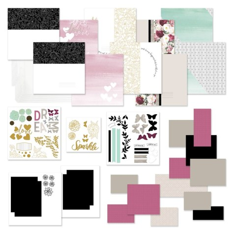Celebrate National Stamping Month with a super easy set of scrapbook pages. CC1212A Live BEautifully Cut Above Kit
