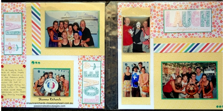Live, Laugh Love (S1705) is May 2017 Stamp of the Month. Perfect for scrapbookers. I've added Flip flaps to include extra photos. www.shaunnarichards.closetomyheart.com.au