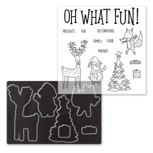 This adorable Christmas themed stamp and die bundle is availalbe from www.shaunnarichards.ctmh.com.au