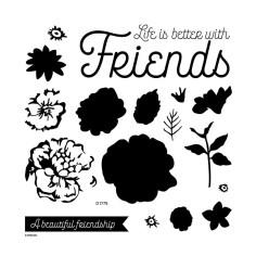 D1779 Beautiful Friendship Scrapbooking Stamps