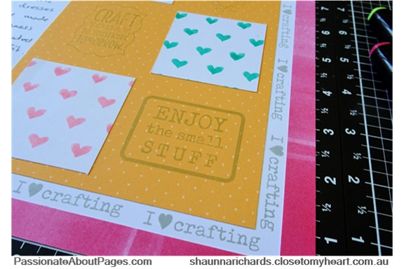 S1808 For the Love of Crafting stamp set is available during August, 2018 only at www.shaunnarichards.closetomyheart.com.au. All crafters need this one in their stash.