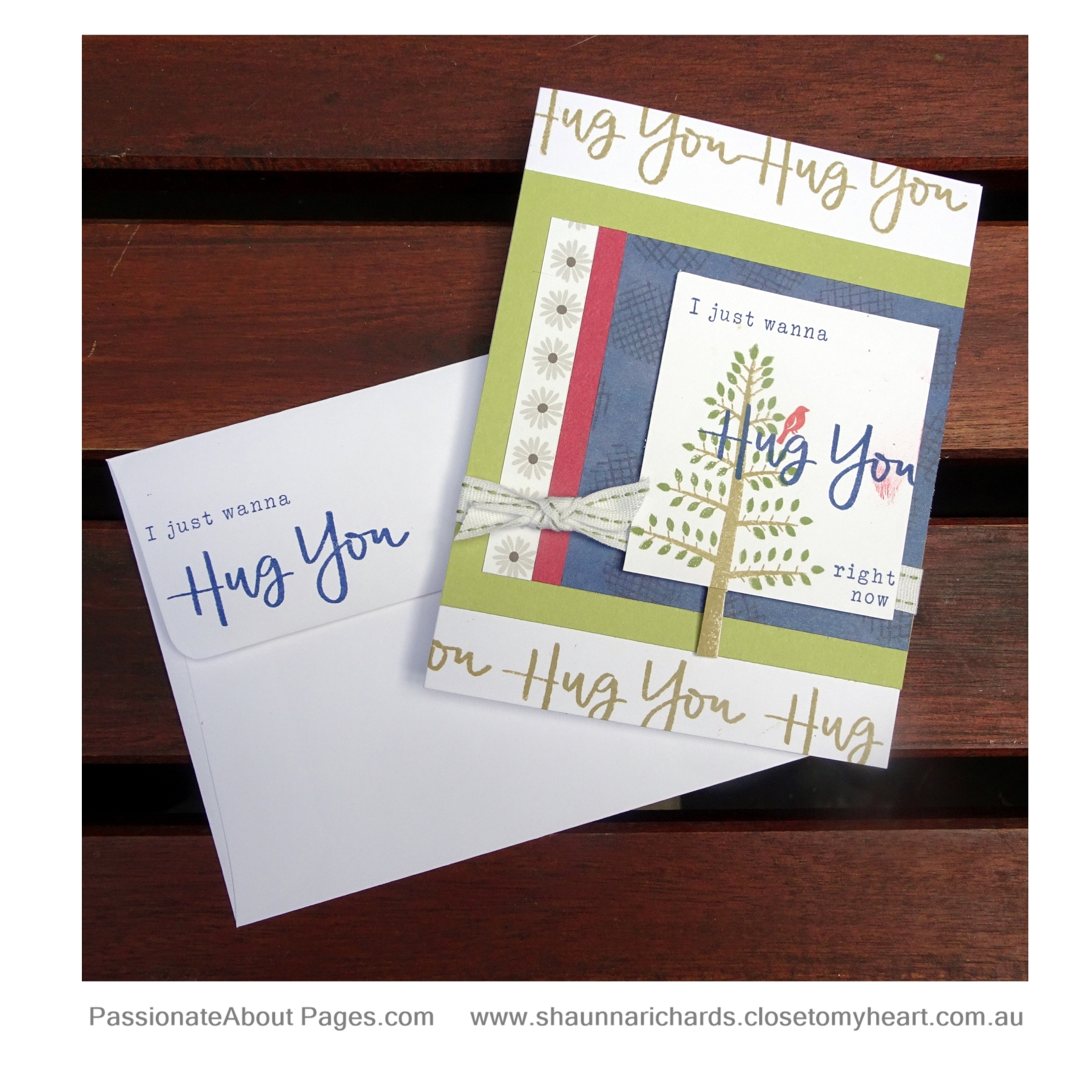 Create this card using G1166 You Got This WYW, G1164 Hugs For You and S1811 Seasonal Trees. Available for purchase at www.shaunnarichards.closetomyheart.com.au