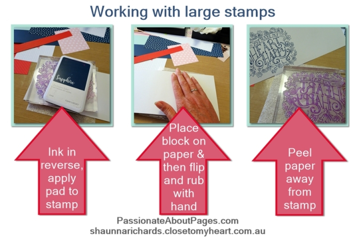 How to stamp with S1902 Heartfelt Sentiments- February 2019's Stamp of the Month from Close To My Heart. Order yours from www.shaunnarichards.ctmh.com.au during Feb 2019