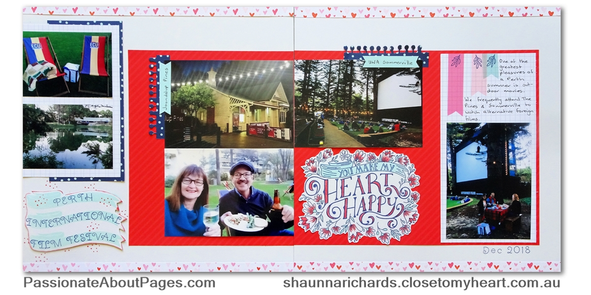 Record the things you love using Heart Happy papers(CC2193) and S1902 Heartfelt Sentiments- February 2019's Stamp of the Month from Close To My Heart. Order yours from www.shaunnarichards.ctmh.com.au during Feb 2019