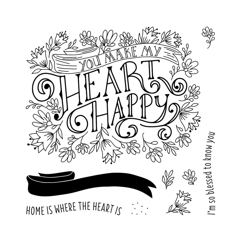 S1902 Heartfelt Sentiments- February 2019's Stamp of the Month from Close To My Heart. Order yours from www.shaunnarichards.ctmh.com.au during Feb 2019