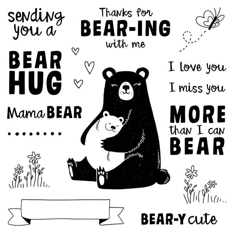 S1907 Bear Hugs stamp set available July 2019 only. Order yours at www.shaunnarichards.ctmh.com.au