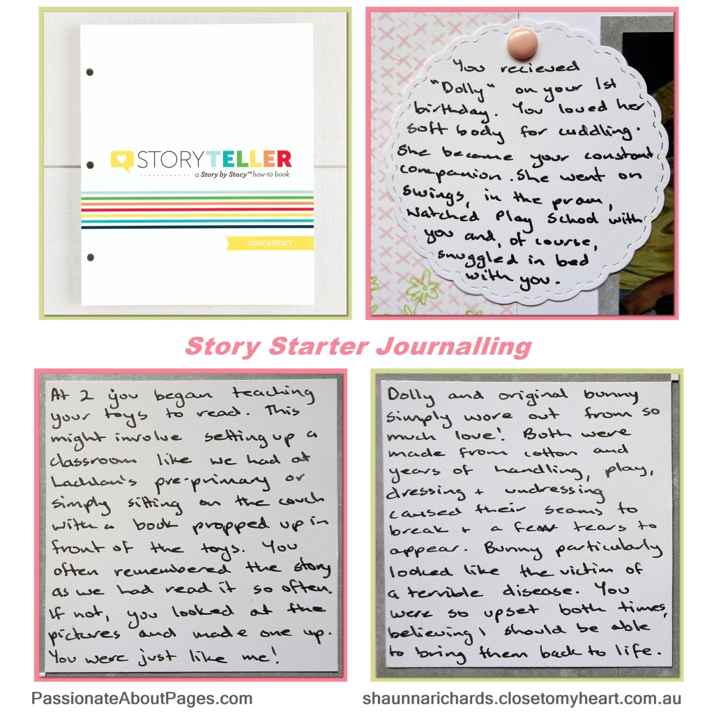 Become a better storyteller in your scrapbook albums by following the lessons in CTMH Storyteller How To Book by Stacy Julian. Order yours from www.shaunnarichards.ctmh.com.au