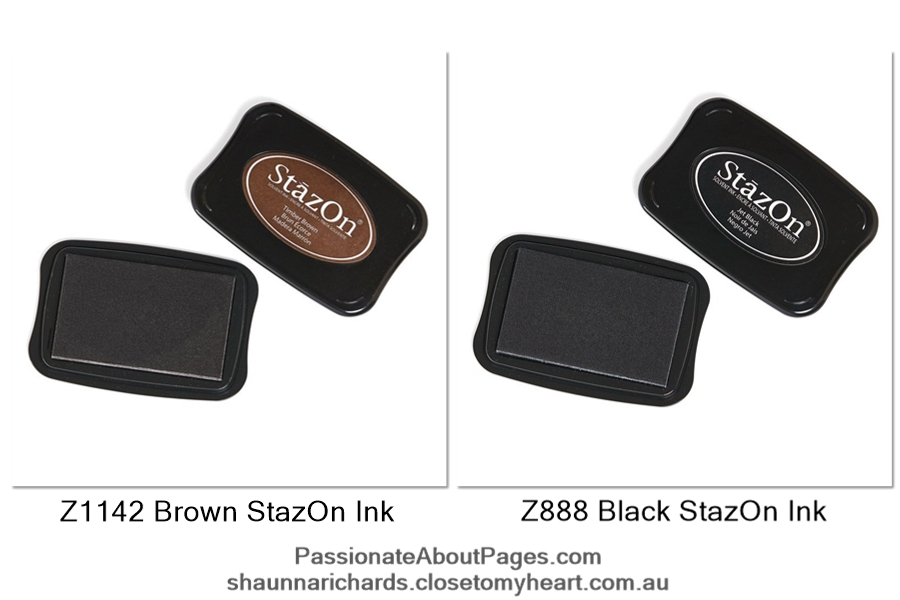 StazOn Ink is ideal for stamping on any non-poraous surface like Holographic papers, glass, metal and plastic. Order yours at www.shaunnarichards.closetomyheart.com.au
