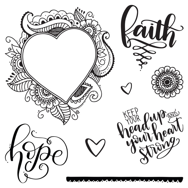 Support Close To My Heart's 'Keep Your Head Up' fundraiser by purchasing this stamp set at https://shaunnarichards.closetomyheart.com.au/